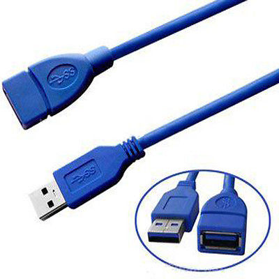 AD Net USB Extension cable 1.45 Meter - Blue